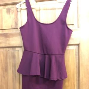 Dresses & Skirts - Maroon peplum bodycon dress